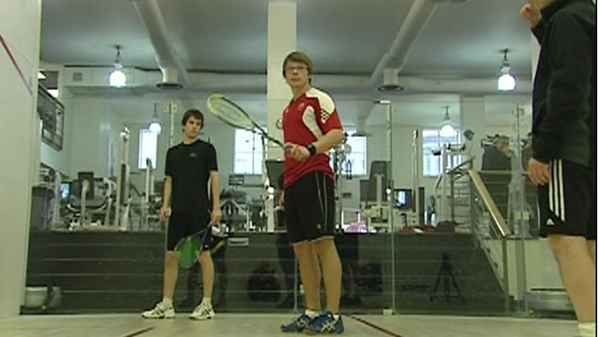 Squash player David Baillargeon was ranked third at the Canada Junior Championships (May 9, 2012)