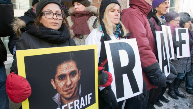Rally for Raif Badawi in Montreal