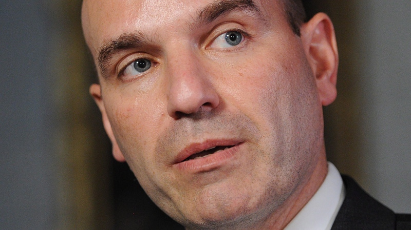 NDP MP Nathan Cullen responds to a statement by Government House leader Peter Van Loan (not shown) following a press conference in the Foyer of the House of Commons on Parliament Hill in Ottawa on Wednesday, May 9, 2012. (Sean Kilpatrick / THE CANADIAN PRESS)