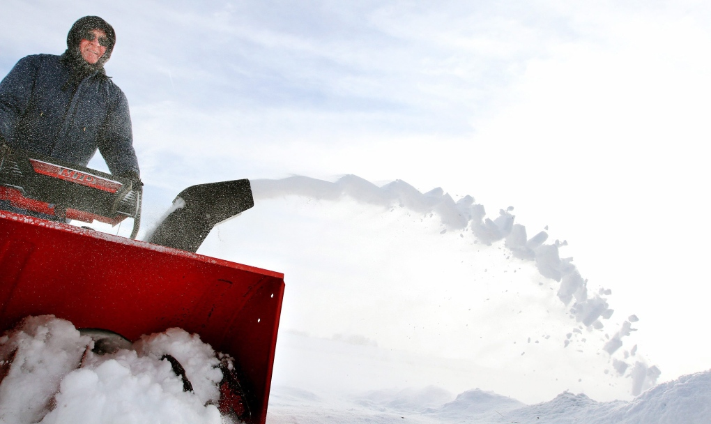 School out snow blower following break-in