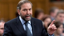 NDP leader Tom Mulcair rises during question period in the House of Commons in Ottawa, Thursday, May 10, 2012. (Adrian Wyld / THE CANADIAN PRESS)
