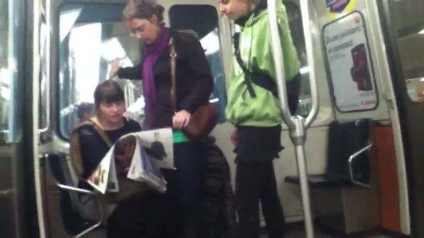 Montreal police have identified these three women as suspects in Thursday's smoke bomb attack (May 10, 2012)