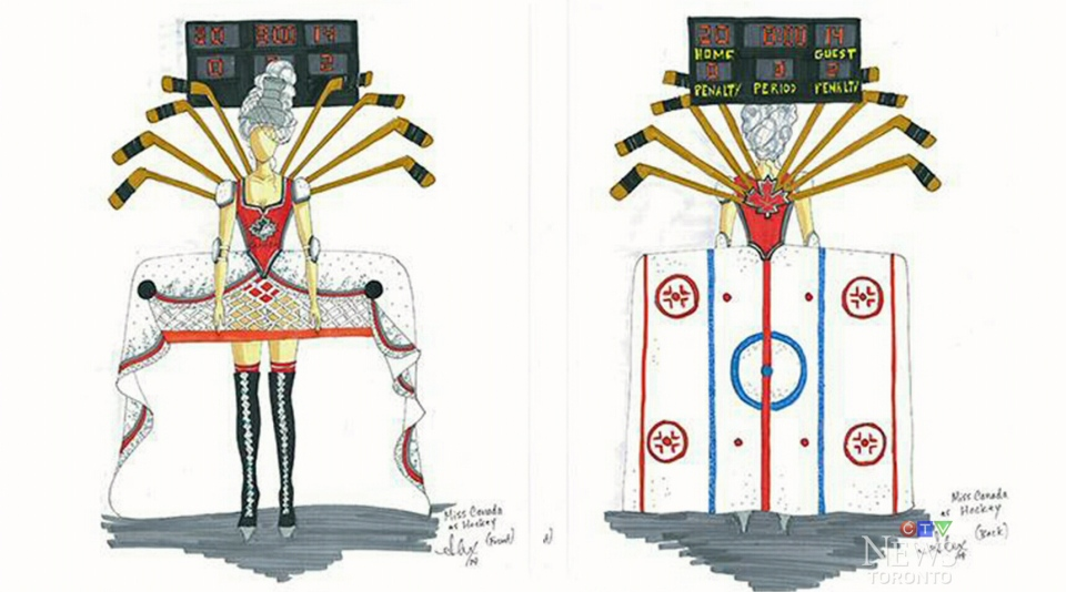 Alex Kavanagh, a Toronto-based TV and film costume designer, created the Miss Canada 'national costume' at Miss Universe.