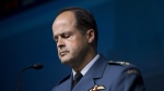 General Tom Lawson, chief of the defence staff speaks to reporters in Ottawa on Thursday, Oct. 23, 2014. (Justin Tang/THE CANADIAN PRESS)