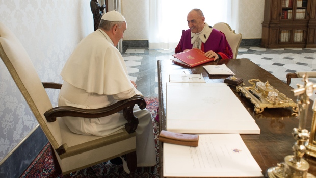 Pope Francis speaks at the Vatican