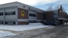 The OPP detachment in Simcoe, Ont., is seen on Thursday, Jan. 15, 2015. (Abigail Bimman / CTV Kitchener)