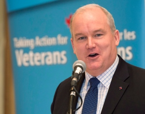 Veterans Affairs Minister Erin O'Toole delivers a speech to the Rotary Club of Toronto in Toronto on Friday, January 23, 2015. (Frank Gunn/THE CANADIAN PRESS)
