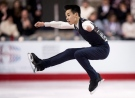 Nam Nguyen from Toronto performs his short program during the men's competition at the Canadian Figure Skating Championships Friday, January 23, 2015 in Kingston. (Paul Chiasson /The Canadian Press)