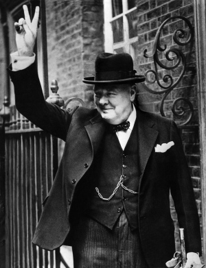 Former British prime minister Winston Churchill is shown in this file photo from 1943. (AFP)