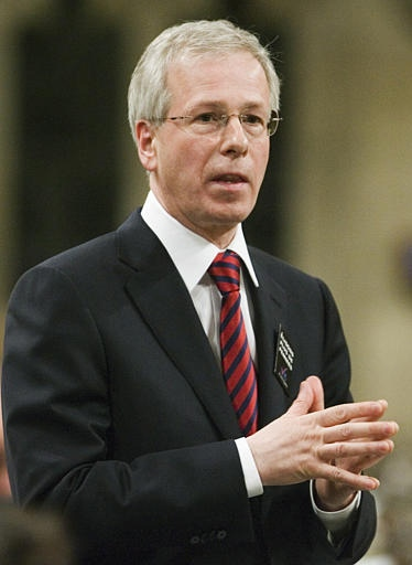 Liberal Leader Stephane Dion stands in the House of Commons during question period in Ottawa on Tuesday, April 17 2007. (CP / Fred Chartrand)