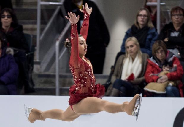 Gabrielle Daleman at figure skating championships