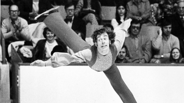 Legendary Canadian figure skater Toller Cranston has died at age 65. Cranston is shown during the Canadian Figure Skating Championships in Moncton in this photo from Feb. 2, 1974. (Doug Ball / THE CANADIAN PRESS)
