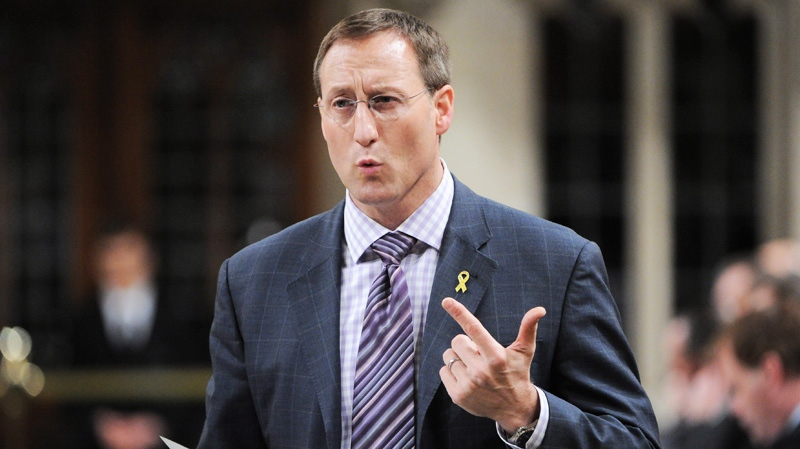 Minister of Defence Peter MacKay responds to a question during question period in the House of Commons on Parliament Hill in Ottawa on Friday, May 11, 2012. (Sean Kilpatrick / THE CANADIAN PRESS)