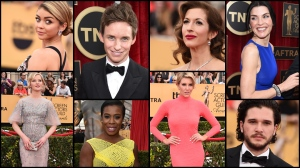 Stars of the screen hit the red carpet at the Shrine Auditorium in L.A. for the 21st-annual Screen Actors Guild Awards.