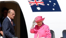 Queen Elizabeth II and Prince Philip in Melbourne