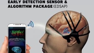 C-Lab engineers are developing a wearable health sensor for stroke detection. (Photo from SamsungTomorrow )