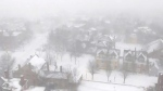 The powerful winter storm batters St. John's, Newfoundland, early Tuesday, Jan. 27, 2015.