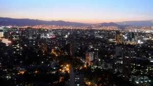An aerial view of Mexico City in the evening. (Photo from Frontpage)