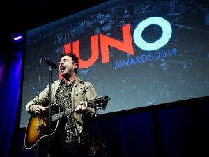 The Arkells perform during the 2015 Juno award nominations press conference in Toronto on Tuesday, January 27, 2015. THE CANADIAN PRESS/Nathan Denette