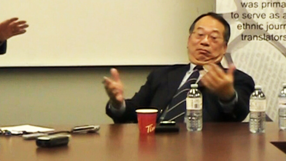 MP Chungsen Leung made an off-the-cuff comment that was caught on camera when meeting with Iranian Canadians.
