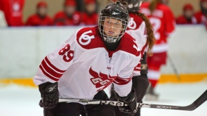 Samantha DeLenardo plays for the University of Ottawa women's hockey team in the 2011-2012