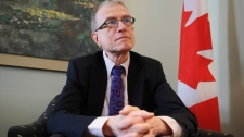 Interim Chair Ian McPhail of the Commission for Public Complaints Against the Royal Canadian Mounted Police speaks to The Canadian Press at his office regarding the final report of the Public Interest Investigation into RCMP Members Conduct Related To The 2010 G8 and G20 Summits