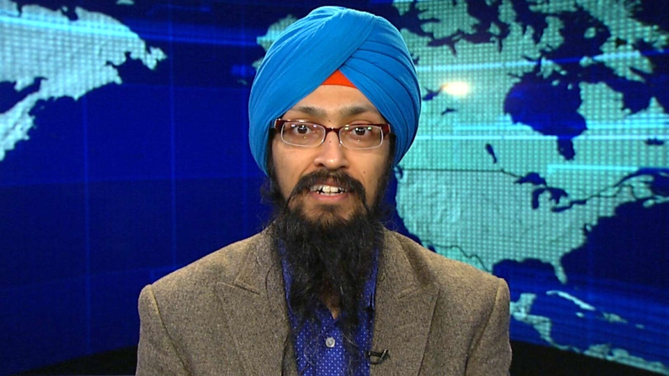 Vishavjit Singh appears on Canada AM on Wednesday, Jan. 28, 2015.