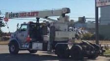 Stolen crane -Calgary