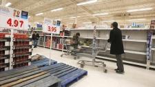 Run on water at Winnipeg supermarket