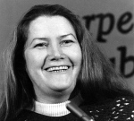 In this March 1, 1977 file photo, Australian author Colleen McCullough laughs during a news conference in New York. (AP Photo/File)