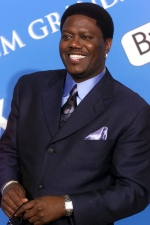 In this Dec. 4, 2001 file photo, comedian Bernie Mac poses for photographers backstage at the 2001 Billboard Music Awards in Las Vegas. (AP Photo/Eric Jamison, file)