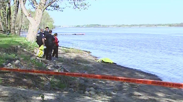 Gatineau police are investigating a body found on an Ottawa River island.