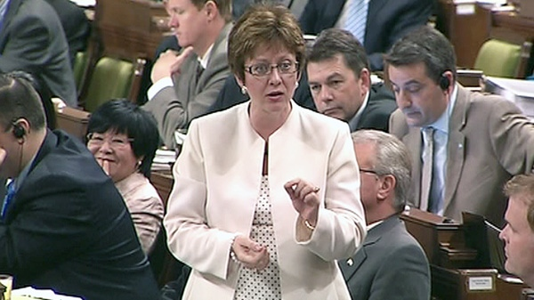 Minister of Human Resources Diane Finley responds to a question during question period in the House of Commons on Parliament Hill in Ottawa on Tuesday, May 15, 2012.
