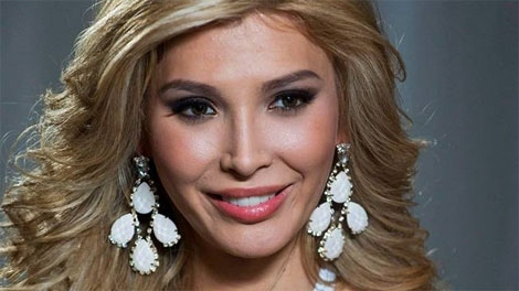 Jenna Talackova, the first transgendered Miss Universe contestant, is seen during an interview at the Sandman Signature Hotel in Toronto on Saturday, May 12, 2012, in advance of next Saturday's Miss Universe Canada pageant. (THE CANADIAN PRESS/Aaron Vincent Elkaim)