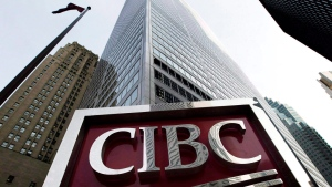 A CIBC sign in Toronto's financial district on February 26, 2009. (Nathan Denette / THE CANADIAN PRESS)