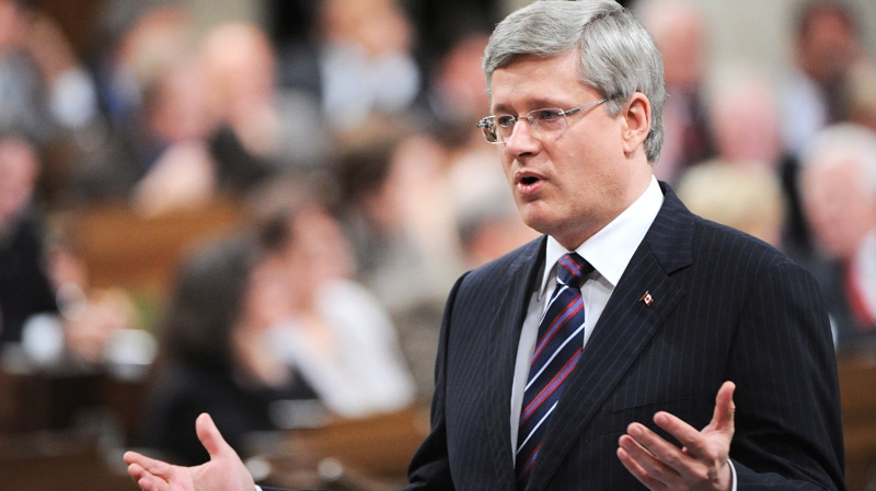 Prime Minister Stephen Harper responds to a question during question period in the House of Commons on Parliament Hill in Ottawa on Tuesday, May 15, 2012. (Sean Kilpatrick / THE CANADIAN PRESS)