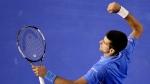 Novak Djokovic after defeating Stan Wawrinka at the Australian Open in Melbourne, Australia, on Jan. 30, 2015. (AP / Lee Jin-man)