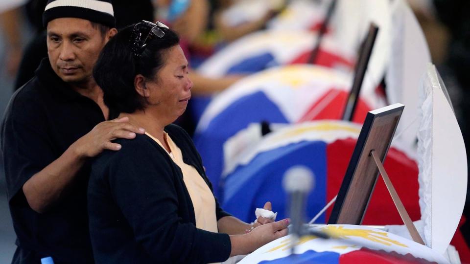 Mourning at Camp Bagong Diwa, Philippines
