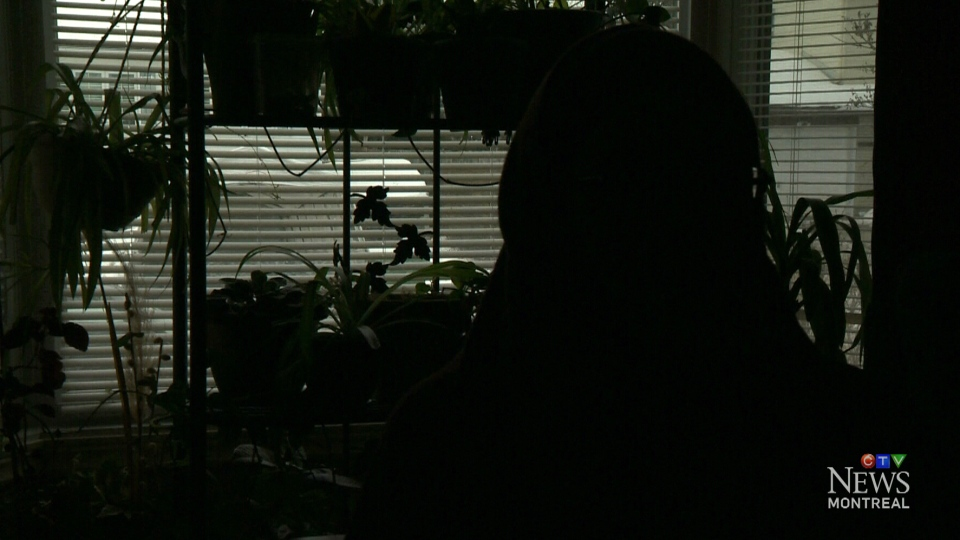Aisha Forsythe is shown in shadow in this image from Thursday, Jan. 29, 2015.