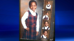 Calgary Police say the suspicious death of Olive Rebekah Oluwafemi, 4, is now considered to be a homicide. They have not charged anyone in connection with the death. (CPS)