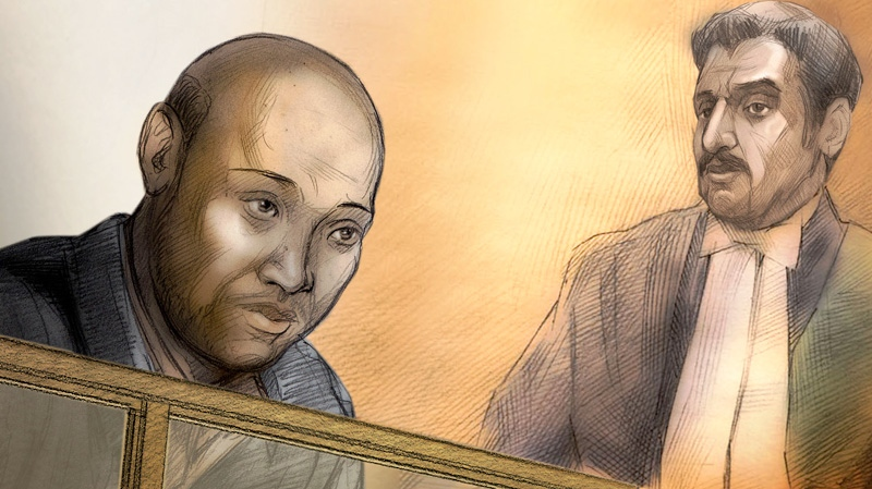 Adib Ibrahim is depicted in this courtroom sketch.