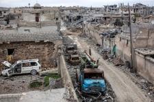 Kobani in ruins
