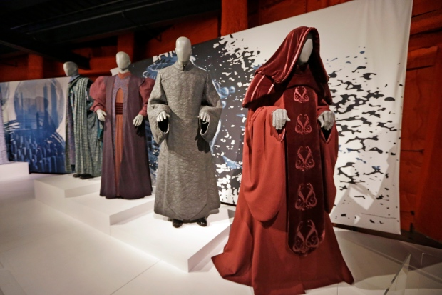Star wars costumes on display in new travelling exhibit for Star wars museum california
