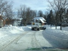 City plows are busy cleaning the streets after the significant snowfall in London, Ont., on Feb.2, 2015. (Nick Paparella / CTV London)