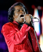 In this July 6, 2005 file photo, James Brown performs on stage during the Live 8 concert at Murrayfield Stadium in Edinburgh, Scotland. (AP / Matt Dunham)
