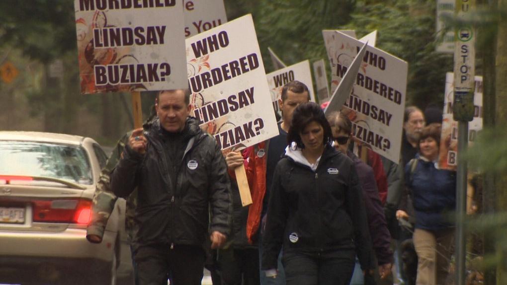 Jeff Buziak leading the Walk for Justice