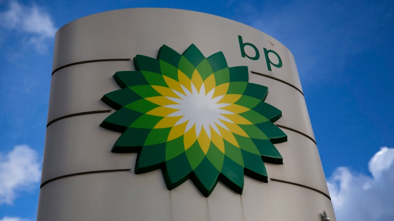 BP logo in Buckinghamshire, England, on Jan. 15, 2015. (AP / Matt Dunham)