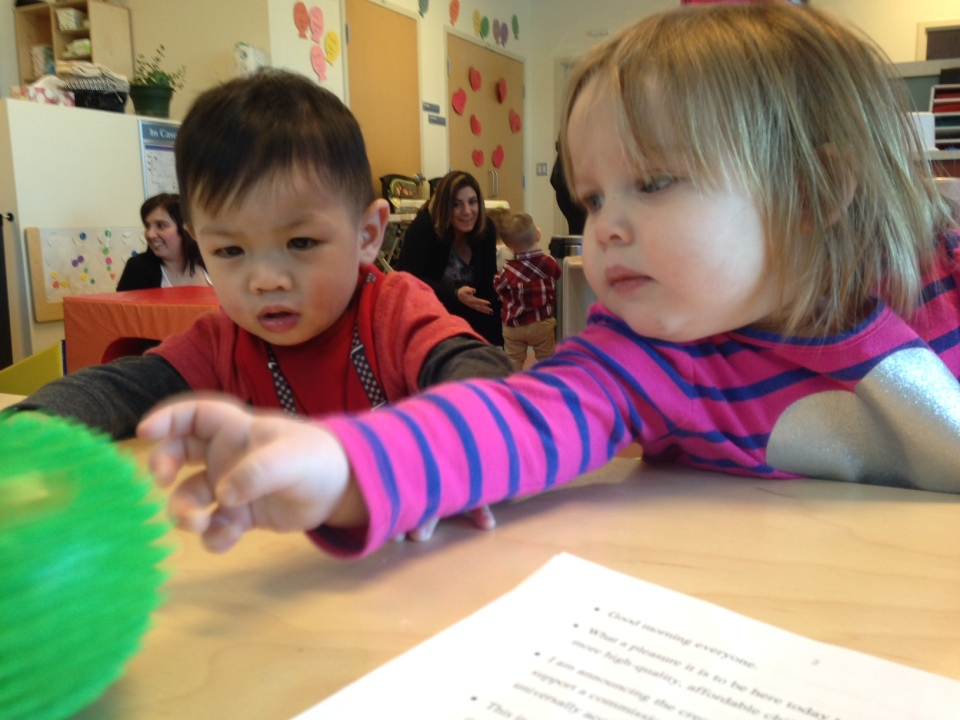 Wednesday's budget pledged $7 billion for child care spending in Canada over the next decade. That includes 40,000 subsidized child care spaces over the next three years. (File Image)