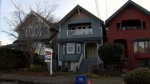 A line of Vancouver homes are seen in this undated CTV News file photo.