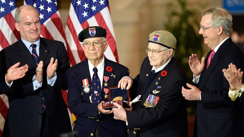 Canadian American Members Of Devil S Brigade Honoured By